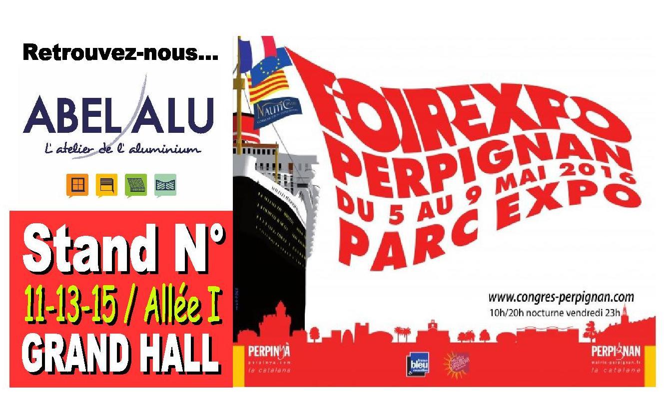 Abel alu partenaire de la foire expo de perpignan du 5 au for Stand pour foire expo