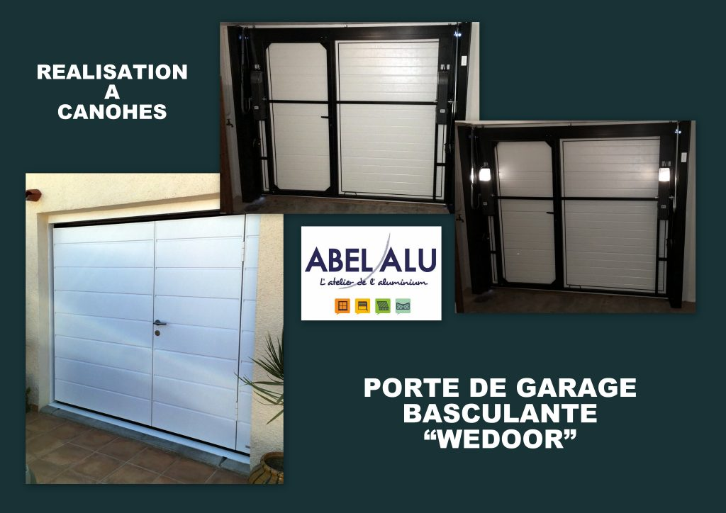 Realisation portede garage wedoor canohes abel alu for Porte de garage battant alu
