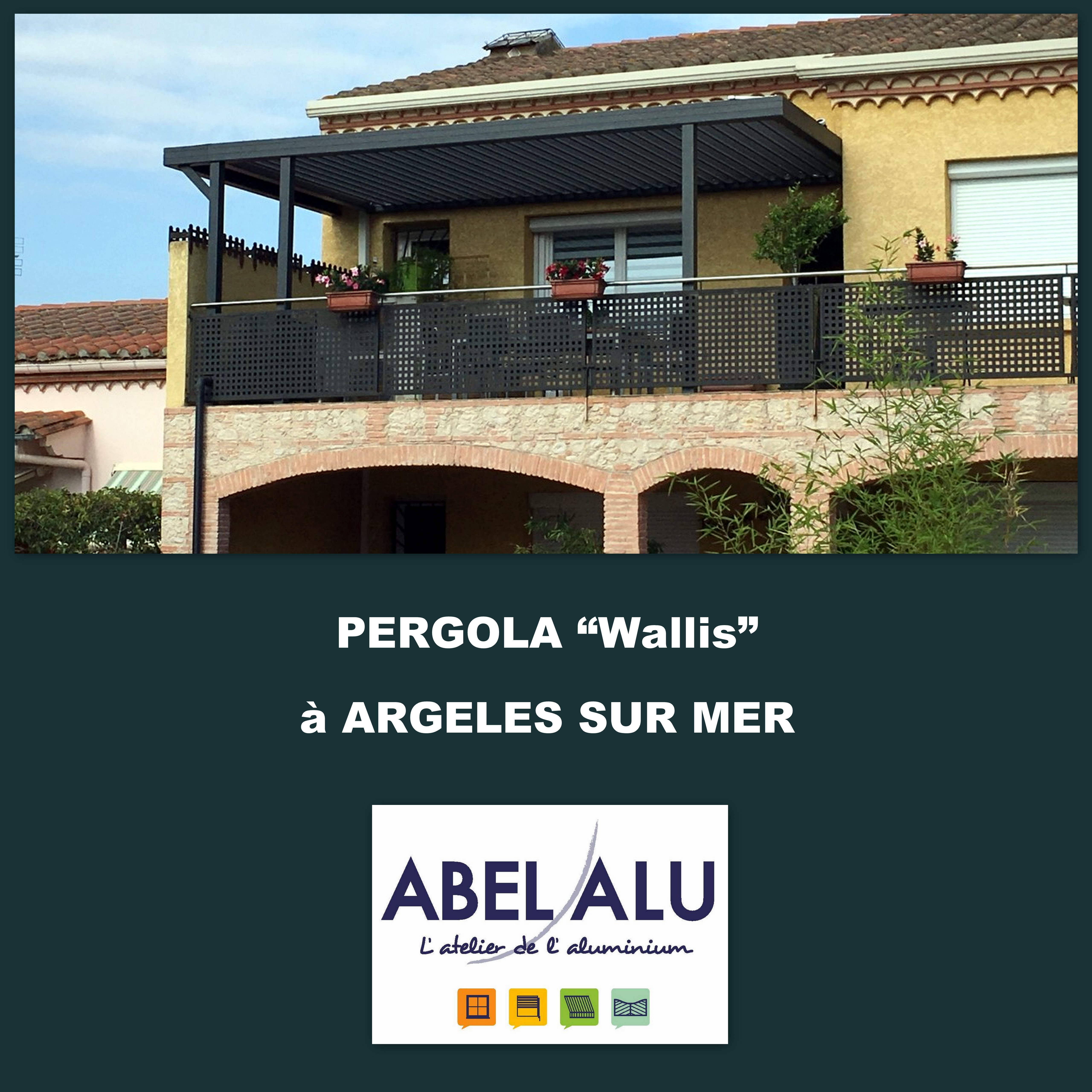 R alisation pergola wallis argeles sur mer abel alu for Garage ford argeles sur mer