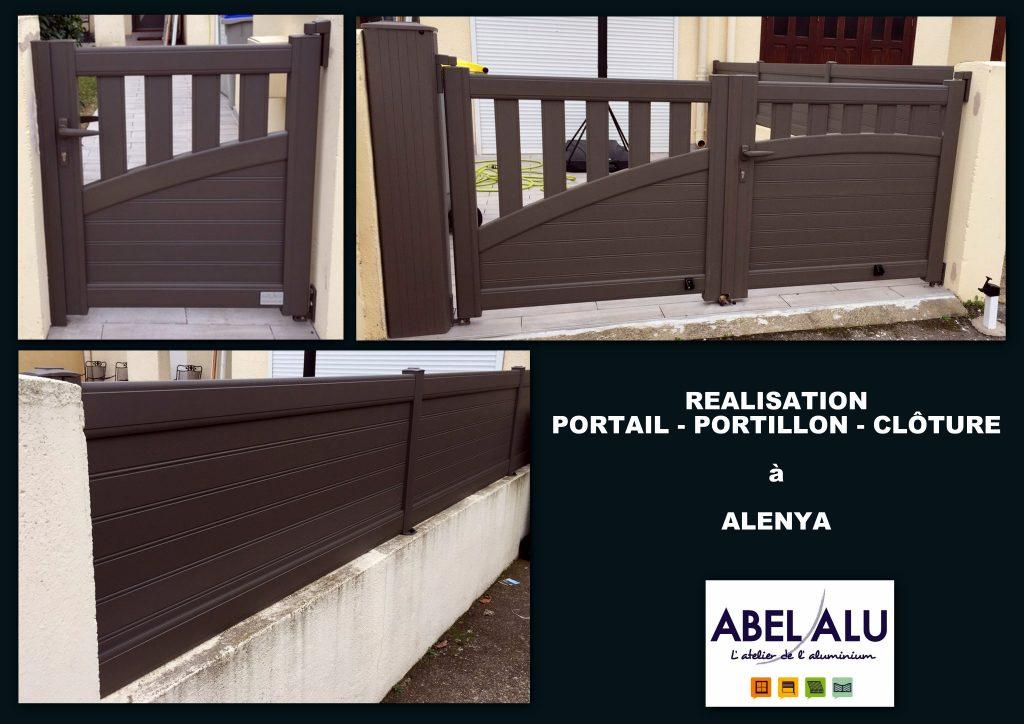 ABEL ALU - PORTAIL-PORTILLON-CLOTURE - ALENYA