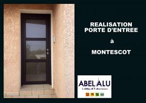ABEL ALU - PORTE D'ENTREE - MONTESCOT