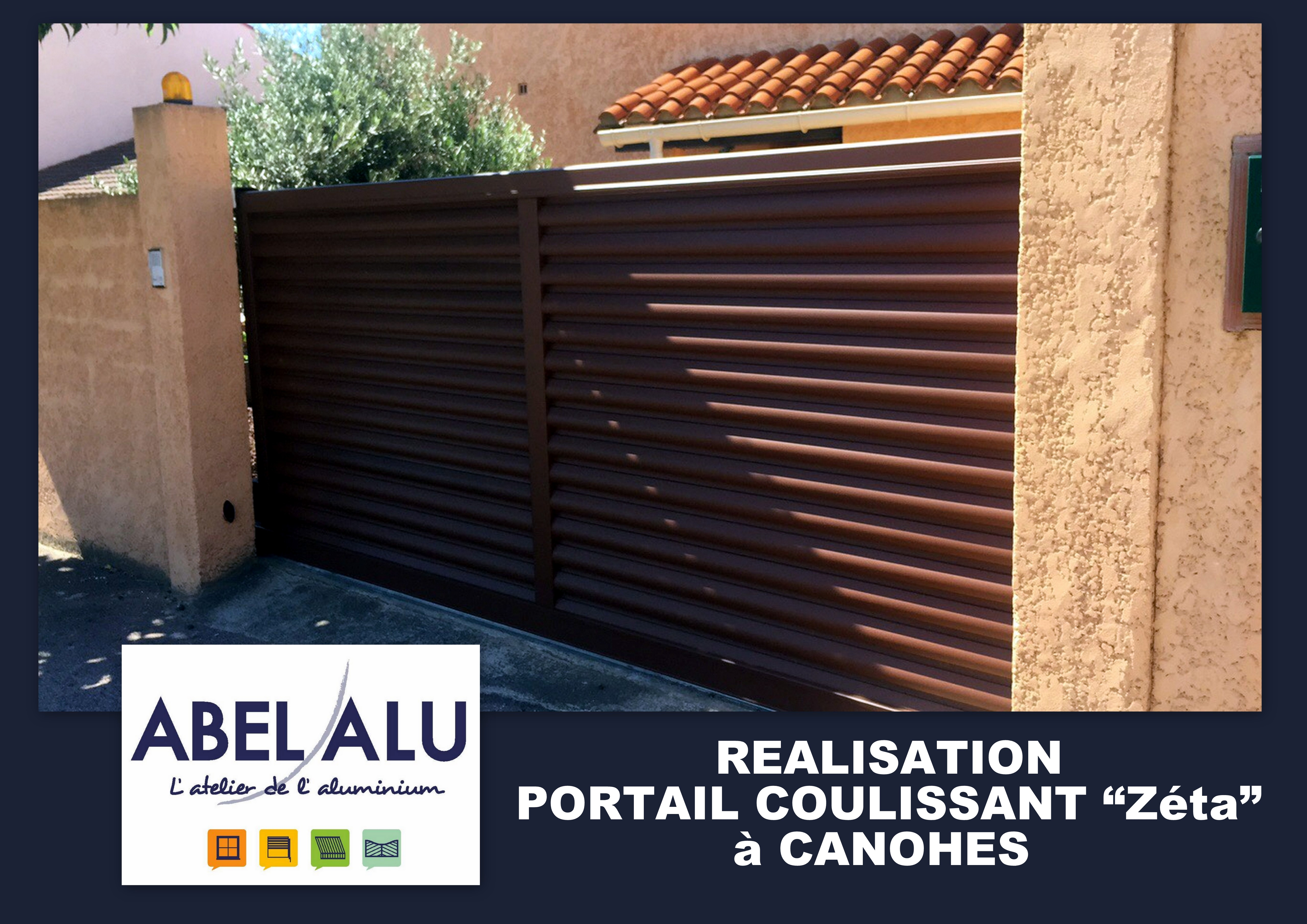 ABEL ALU - PORTAIL COULISSANT - CANOHES