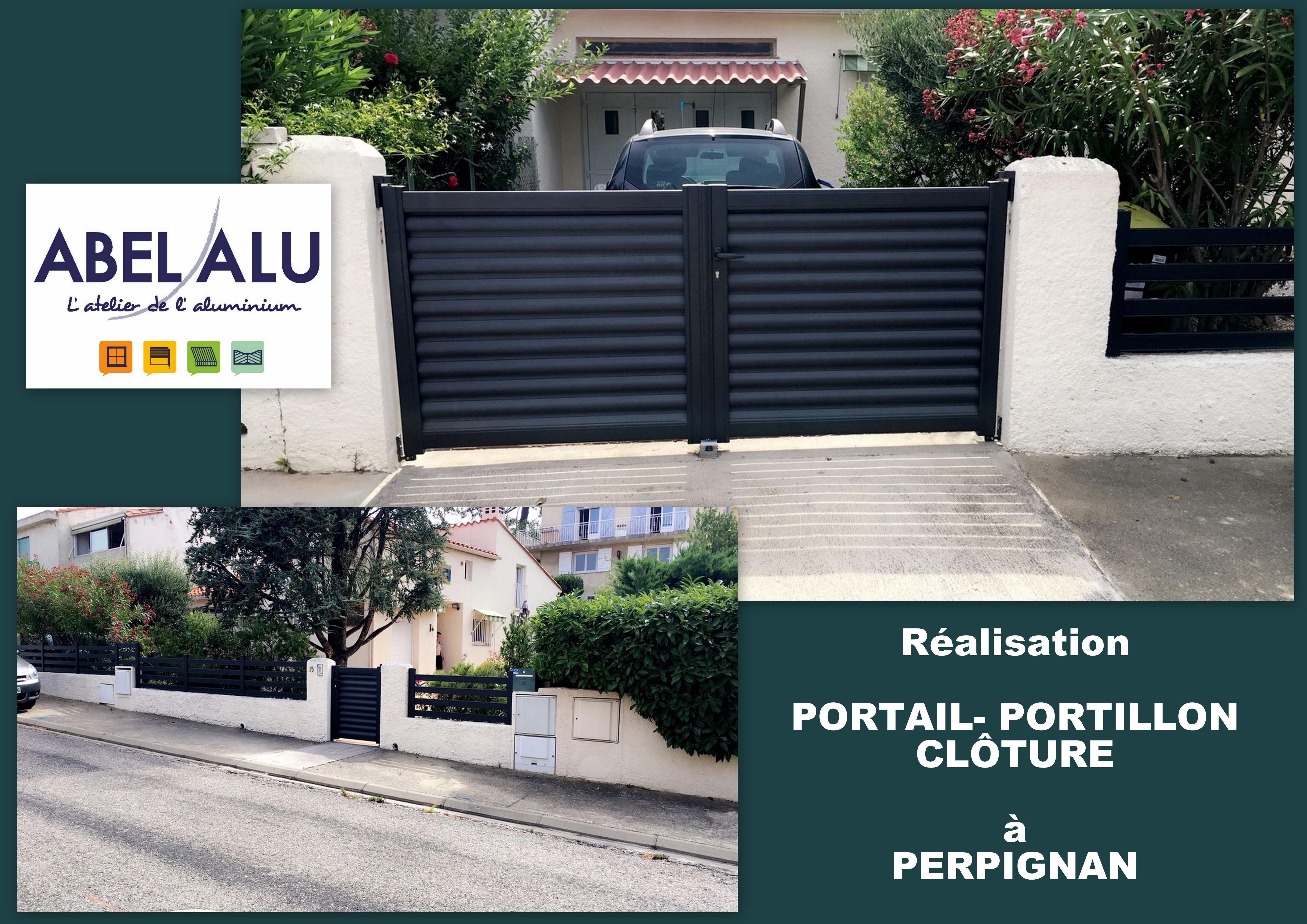 R alisation portail portillon cl ture perpignan for Portail portillon cloture