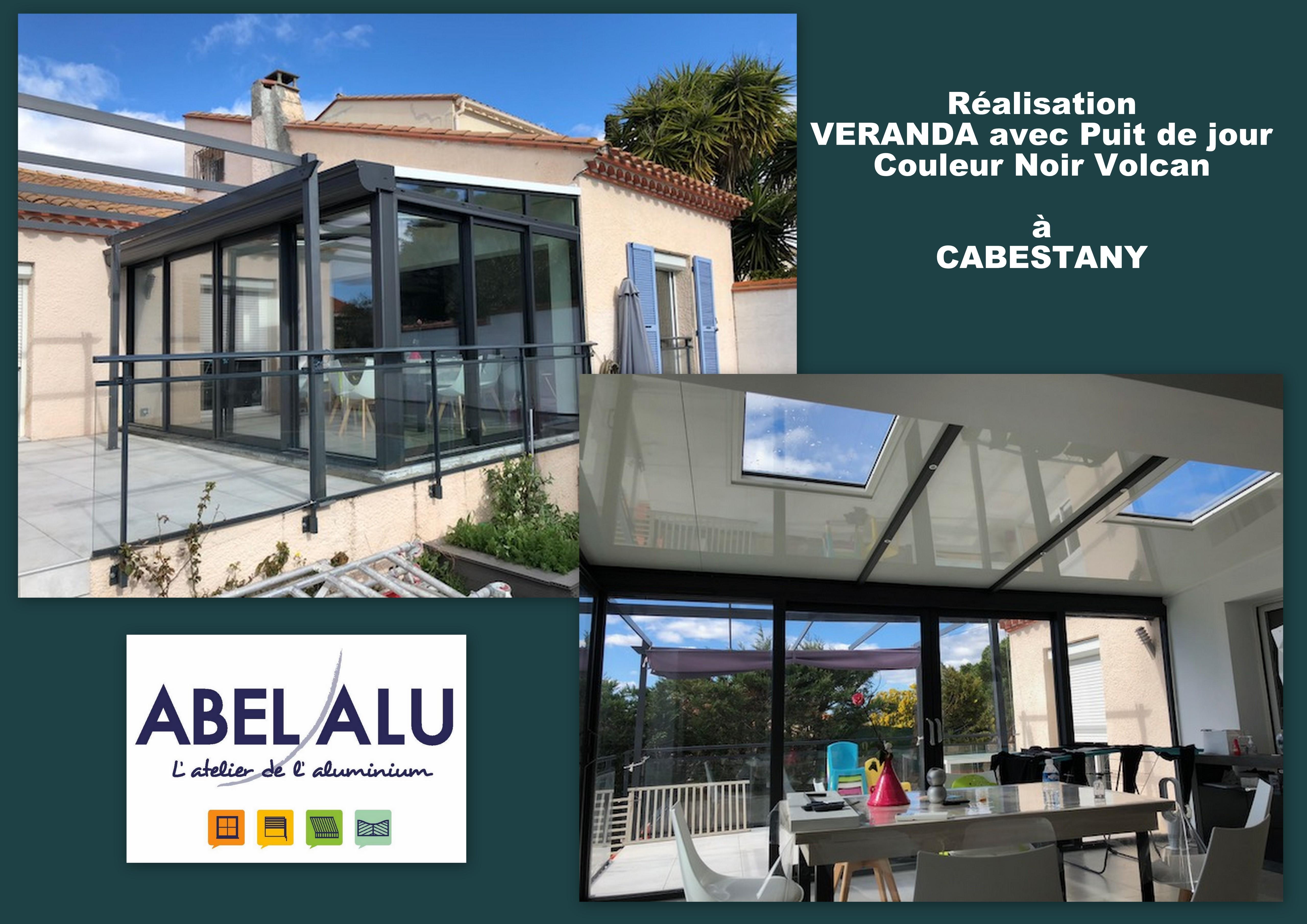 Veranda Puit De Lumiere réalisation veranda avec puit de lumière à cabestany - abel alu