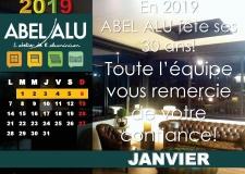 ABEL ALU – CALENDRIER JANVIER 2019