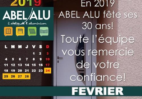 ABEL ALU – CALENDRIER FEVRIER 2019