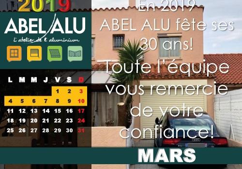 ABEL ALU – CALENDRIER MARS 2019