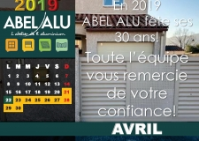 ABEL ALU – CALENDRIER AVRIL 2019