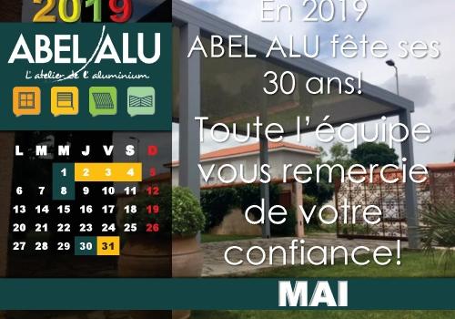 ABEL ALU – CALENDRIER MAI 2019