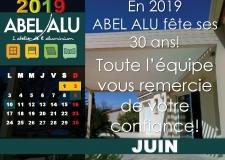 ABEL ALU – CALENDRIER JUIN 2019