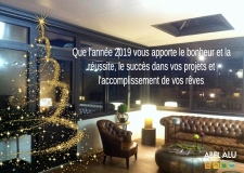 Toute l'équipe ABEL ALU vous souhaite une bonne année 2019!