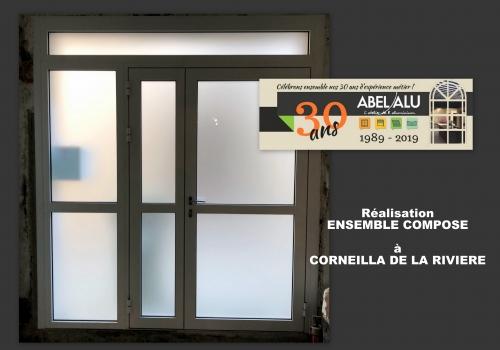 Réalisation ENSEMBLE COMPOSE ALU à CORNEILLA DE LA RIVIERE