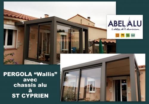 """Réalisation PERGOLA """"Wallis"""" avec châssis ALU à ST CYPRIEN"""