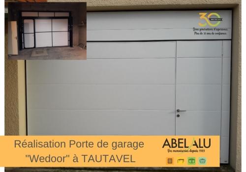 "Réalisation PORTE DE GARAGE ""Wedoor"" à TAUTAVEL"