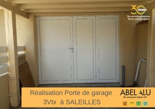 Réalisation PORTE DE GARAGE 3 Vantaux à SALEILLES
