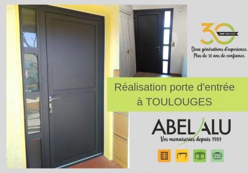 Réalisation Porte d'entrée à TOULOUGES – ABEL ALU