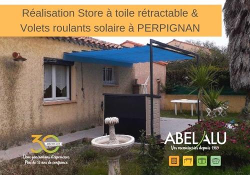 Réalisation Store à toile rétractable & volet roulant solaire Bubendorff à PERPIGNAN – ABEL ALU