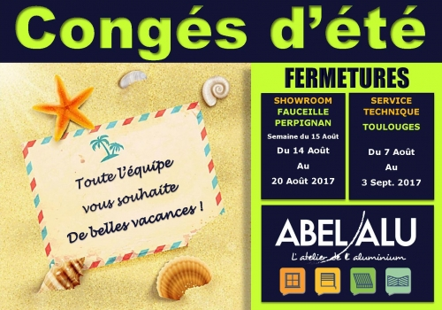 FERMTURES – CONGES D'ETE