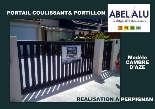 """REALISATION PORTAIL COULISSANT – Modèle """"CAMBRE D'AZE"""" – PERPIGNAN"""
