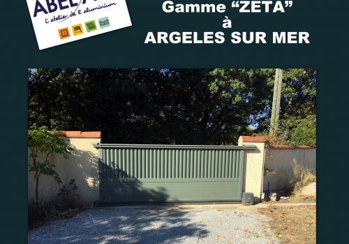 """Réalisation PORTAIL COULISSANT Gamme """"ZETA"""" à ARGELES SUR MER"""