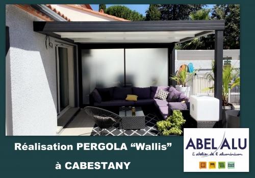 """Réalisation PERGOLA """"Wallis"""" à CABESTANY"""