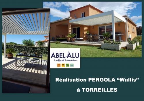 """Réalisation PERGOLA """"Wallis"""" à TORREILLES"""